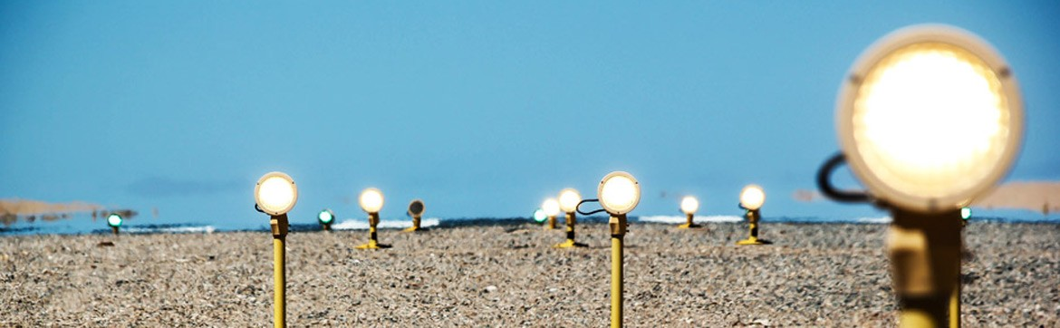 Landing lights at the Luderitz Airport in the Karas Region - Namibia Airports Company